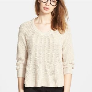 Madewell Sweater - Cropped Swing Crochet Small
